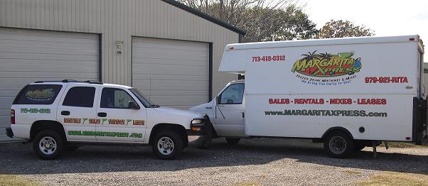 MARGARITA MACHINE DELIVERY VEHICLES FOR DELIVERY TO YOUR PARTY OR EVENT